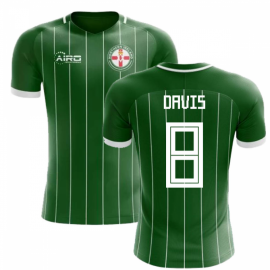 2020-2021 Northern Ireland Home Concept Football Shirt (Davis 8) - Kids