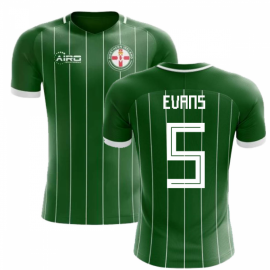 2020-2021 Northern Ireland Home Concept Football Shirt (Evans 5) - Kids