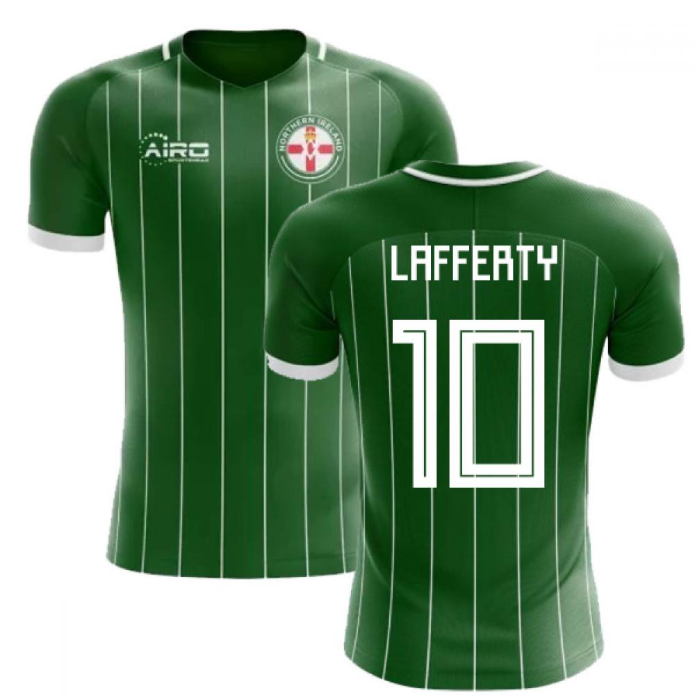 aa9f5ae3f 2018-2019 Northern Ireland Home Concept Football Shirt (Lafferty 10)