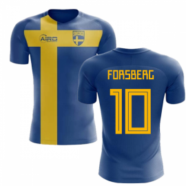 04d6980653e 2018-2019 Sweden Flag Concept Football Shirt (Forsberg 10)