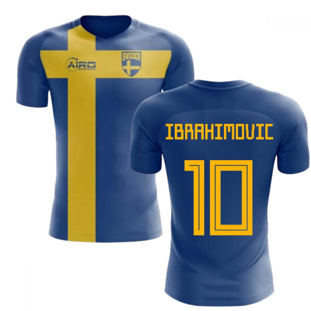 2018-2019 Sweden Flag Concept Football Shirt (Ibrahimovic 10)