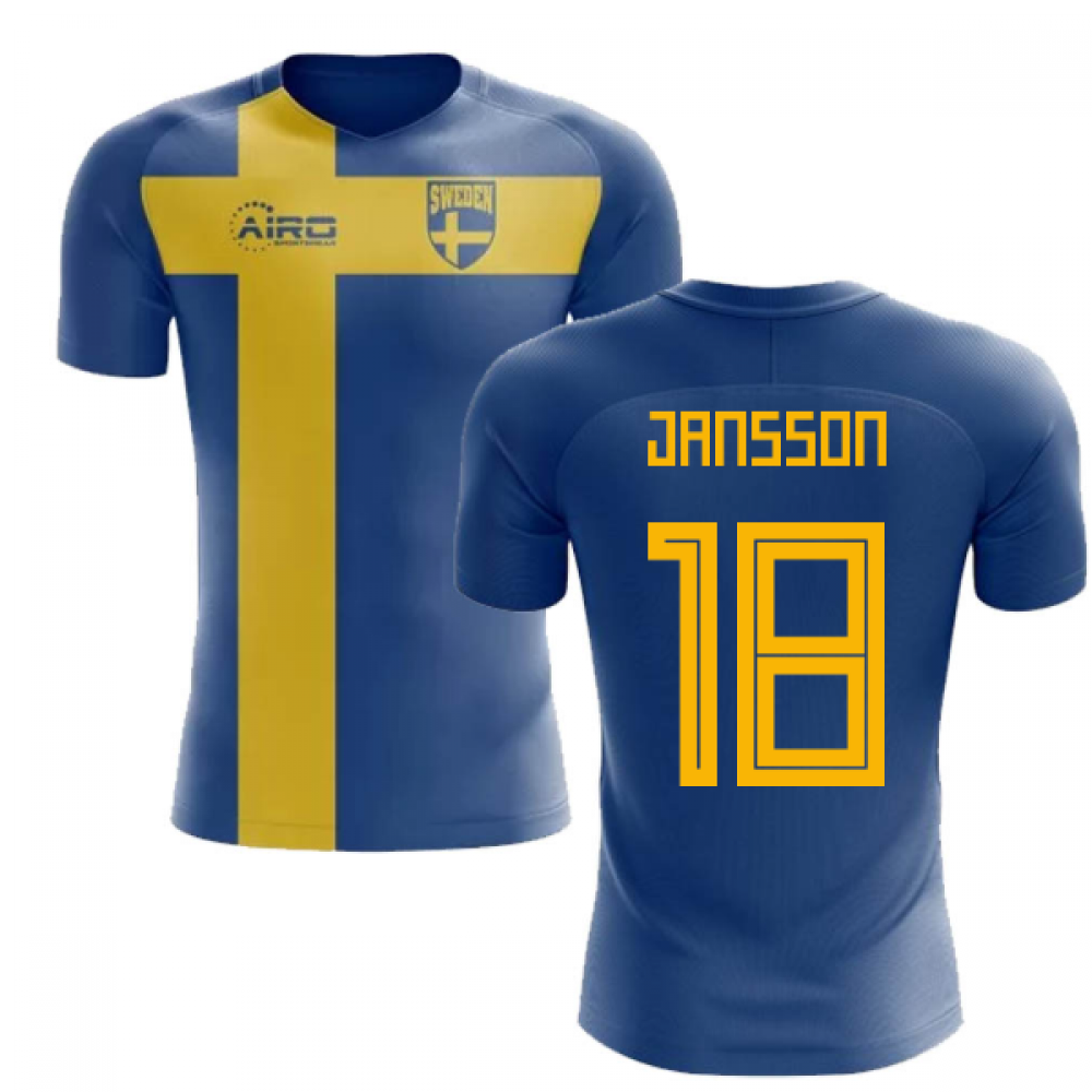 2018-2019 Sweden Flag Concept Football Shirt (Jansson 18) 39edd0757