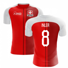 0d75fe71cec 2018-2019 Switzerland Home Concept Football Shirt (Inler 8)