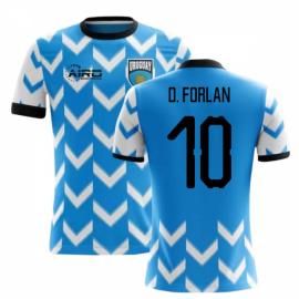 2020-2021 Uruguay Home Concept Football Shirt (D. Forlan 10)