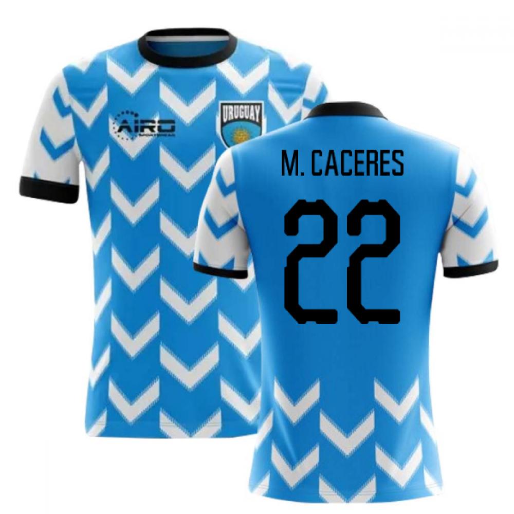 a4a7b7403 2018-2019 Uruguay Home Concept Football Shirt (M. Caceres 22) - Kids