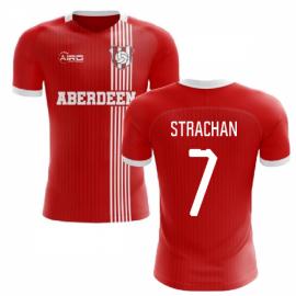 2020-2021 Aberdeen Home Concept Football Shirt (Strachan 7)