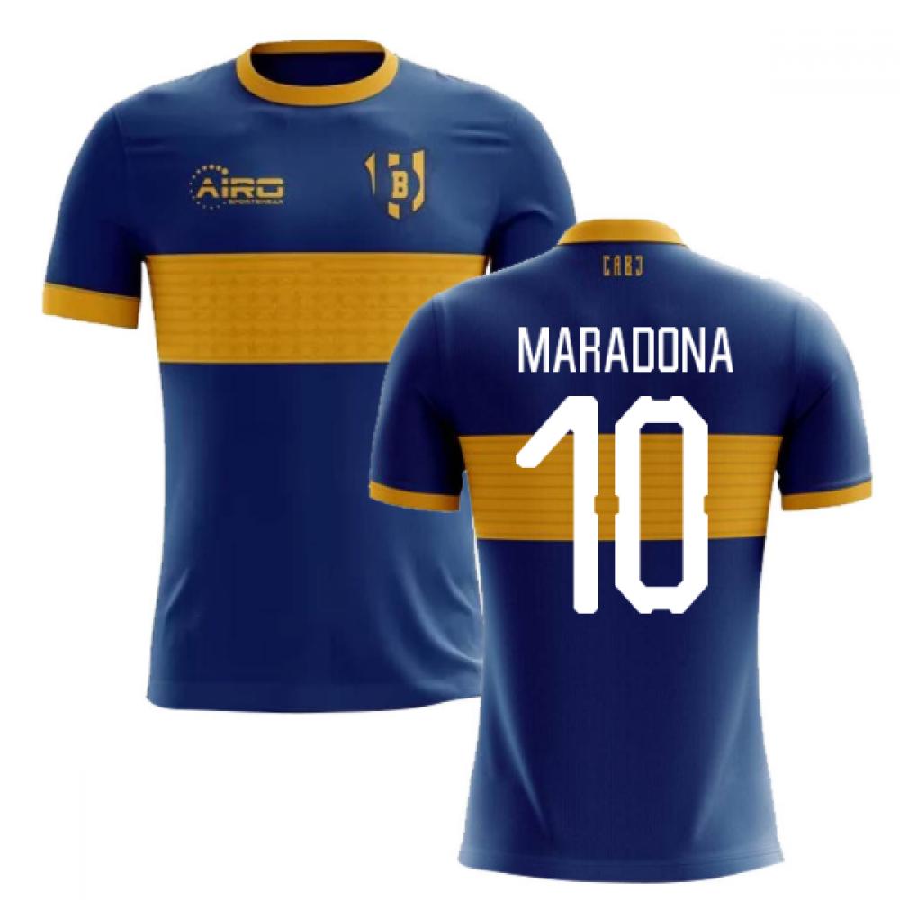 cef407950 2019-2020 Boca Juniors Home Concept Football Shirt (MARADONA 10) - Kids