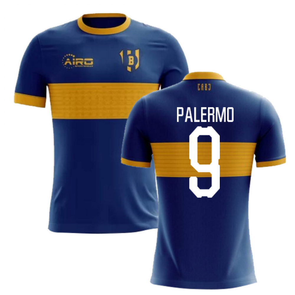 2020-2021 Boca Juniors Home Concept Football Shirt (PALERMO 9) - Kids