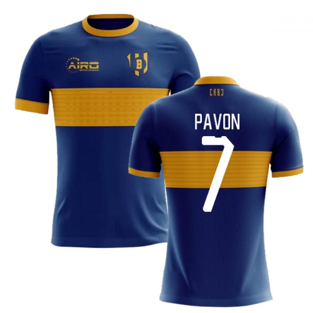 2020-2021 Boca Juniors Home Concept Football Shirt (Pavon 7) - Kids