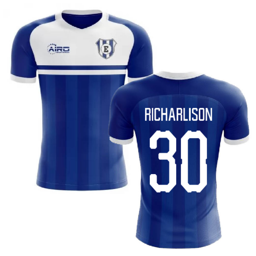 best cheap 4e417 c3c24 2019-2020 Everton Home Concept Football Shirt (RICHARLISON 30)