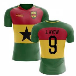 2019-2020 Ghana Flag Concept Football Shirt (J. Ayew 9) - Kids