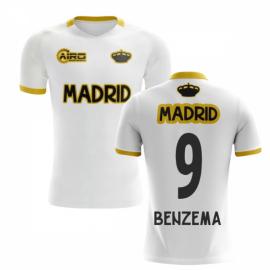 2019-2020 Madrid Concept Training Shirt (White) (BENZEMA 9) - Kids