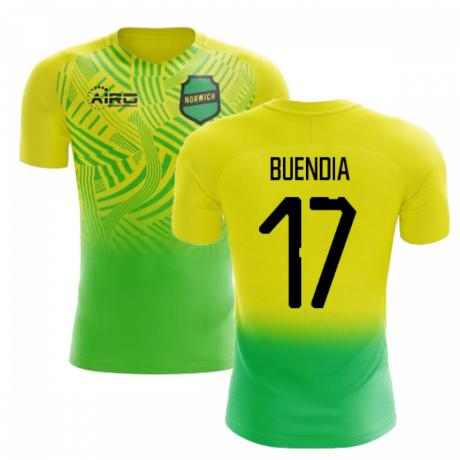 2020-2021 Norwich Home Concept Football Shirt (Buendia 17) - Kids