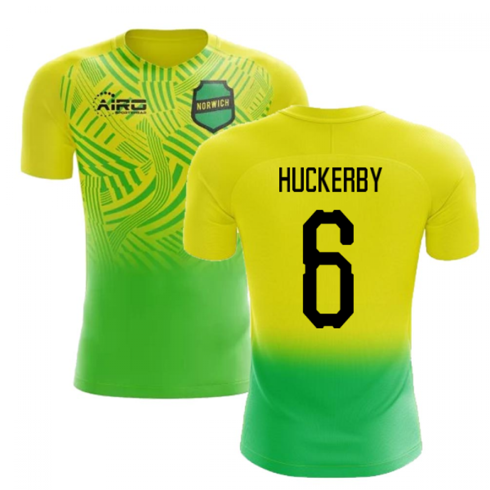 2020-2021 Norwich Home Concept Football Shirt (Huckerby 6) - Kids