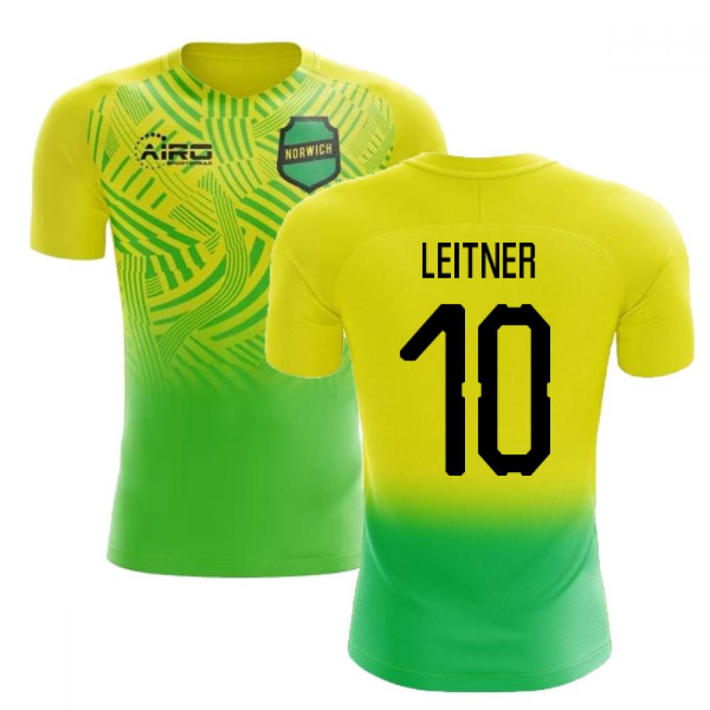 2020-2021 Norwich Home Concept Football Shirt (Leitner 10)