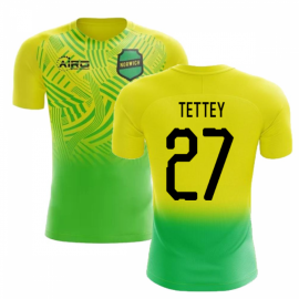 2020-2021 Norwich Home Concept Football Shirt (Tettey 27)