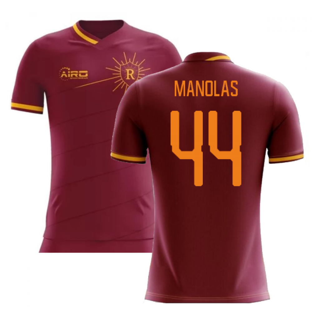 2019-2020 Roma Home Concept Football Shirt (MANOLAS 44)