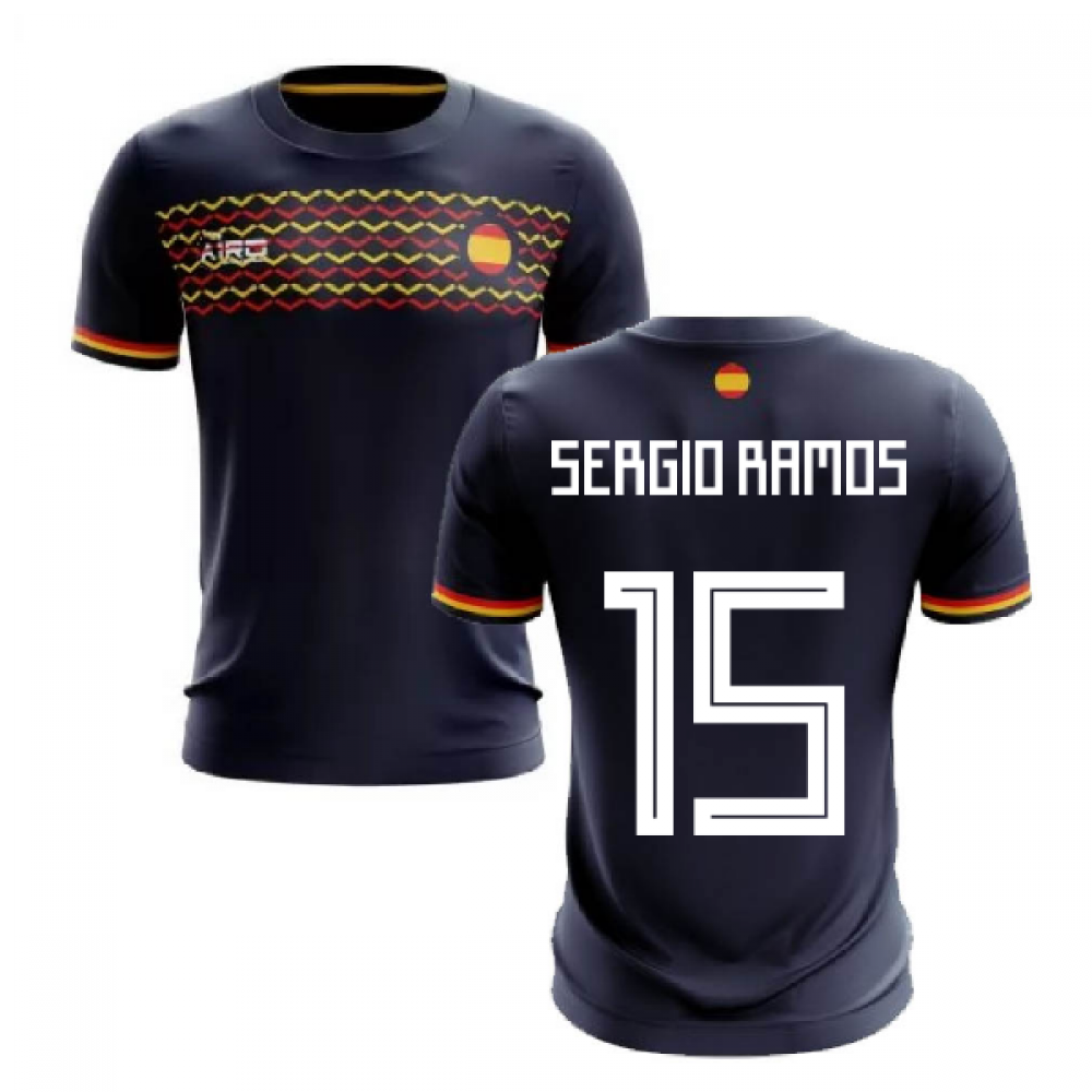 best loved df891 93ffd 2019-2020 Spain Away Concept Football Shirt (Sergio Ramos 15)