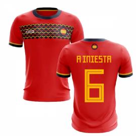 2019-2020 Spain Home Concept Football Shirt (A Iniesta 6)