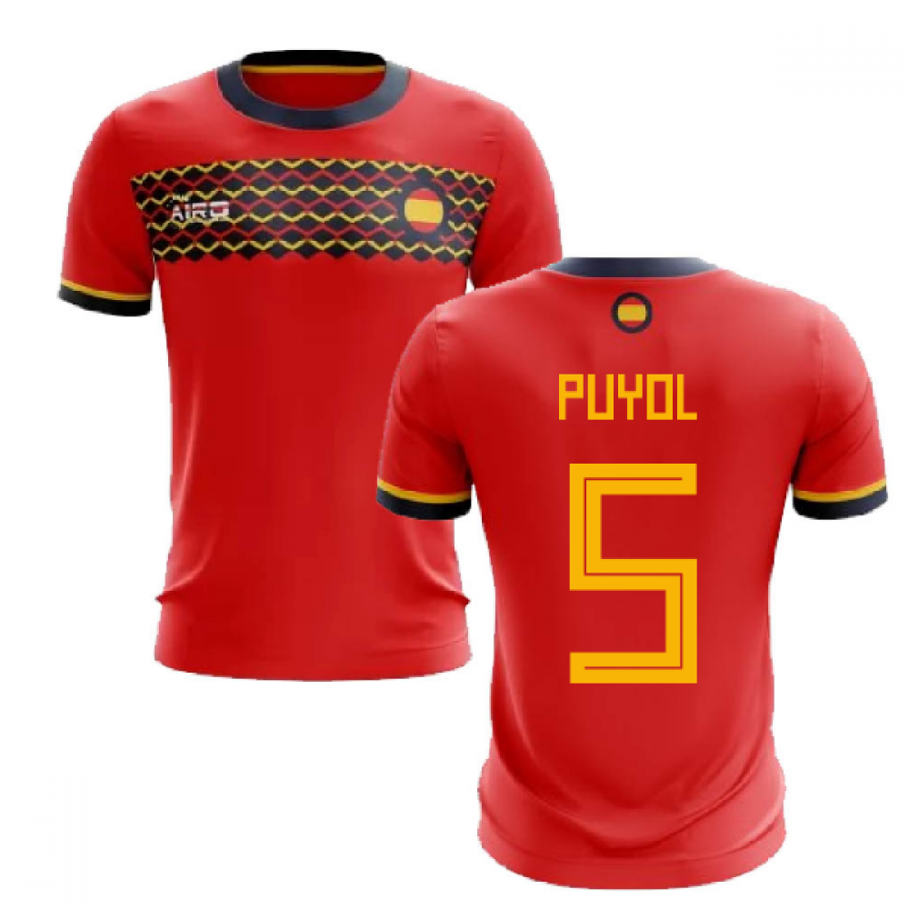 2019-2020 Spain Home Concept Football Shirt (Puyol 5)