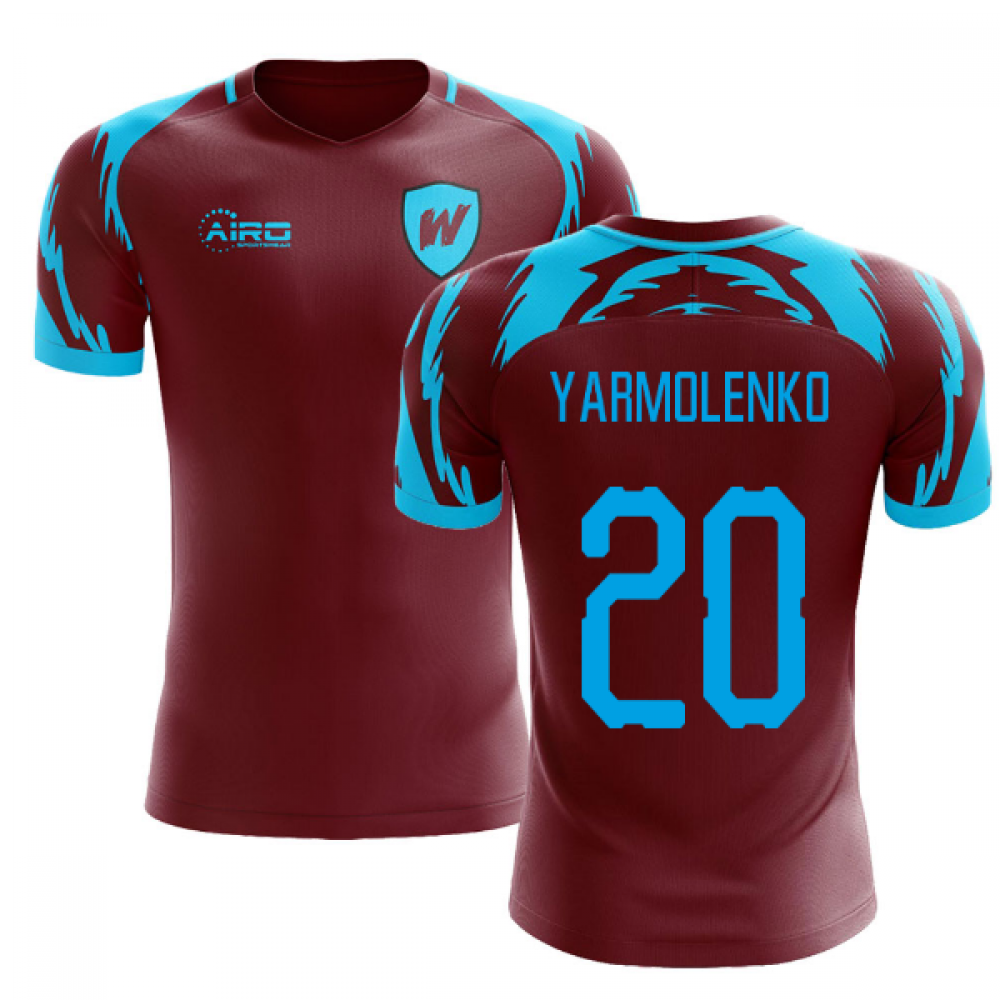 best sneakers 6cef2 24e99 2019-2020 West Ham Home Concept Football Shirt (YARMOLENKO 20)