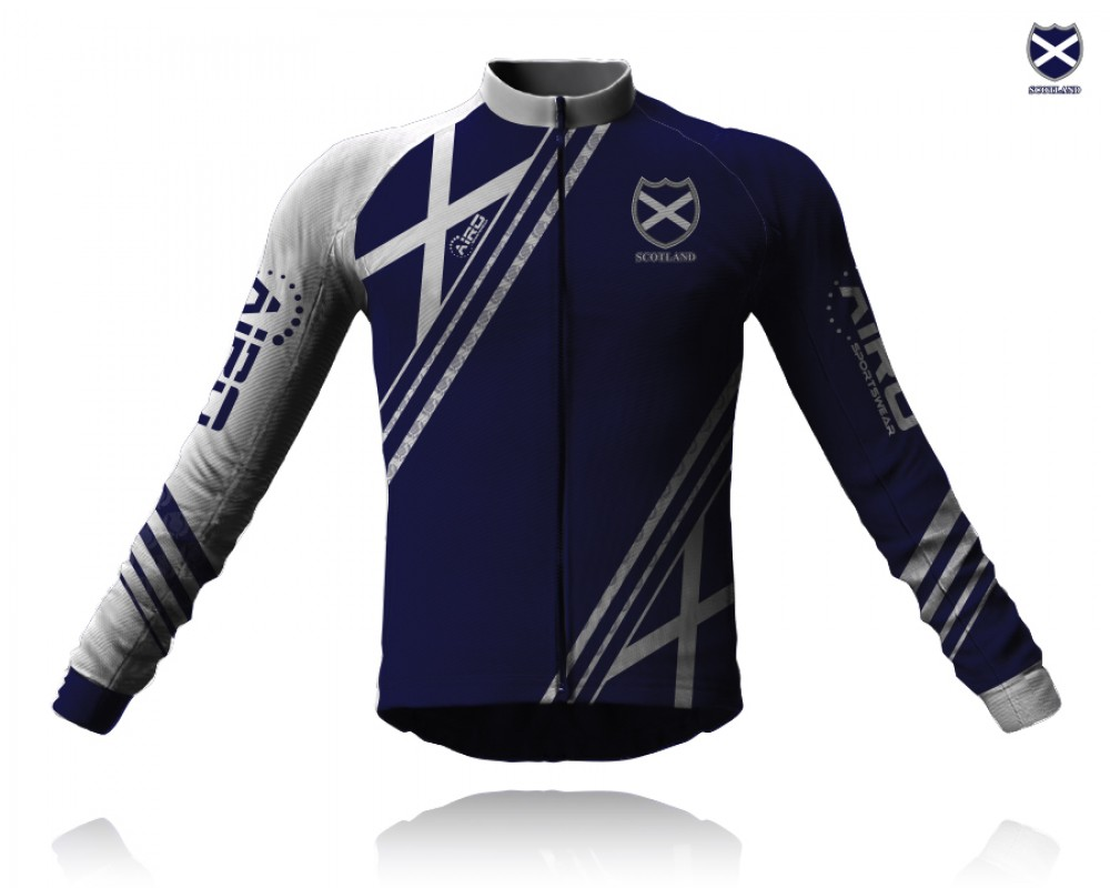Image of Airosportswear Supporters Scotland Cycling Jersey Long Sleeve