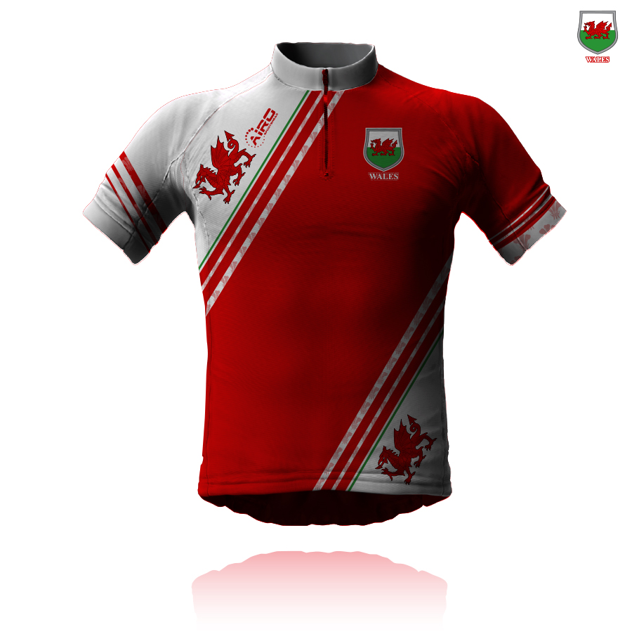 Image of Airosportswear Supporters Wales Cycling Jersey