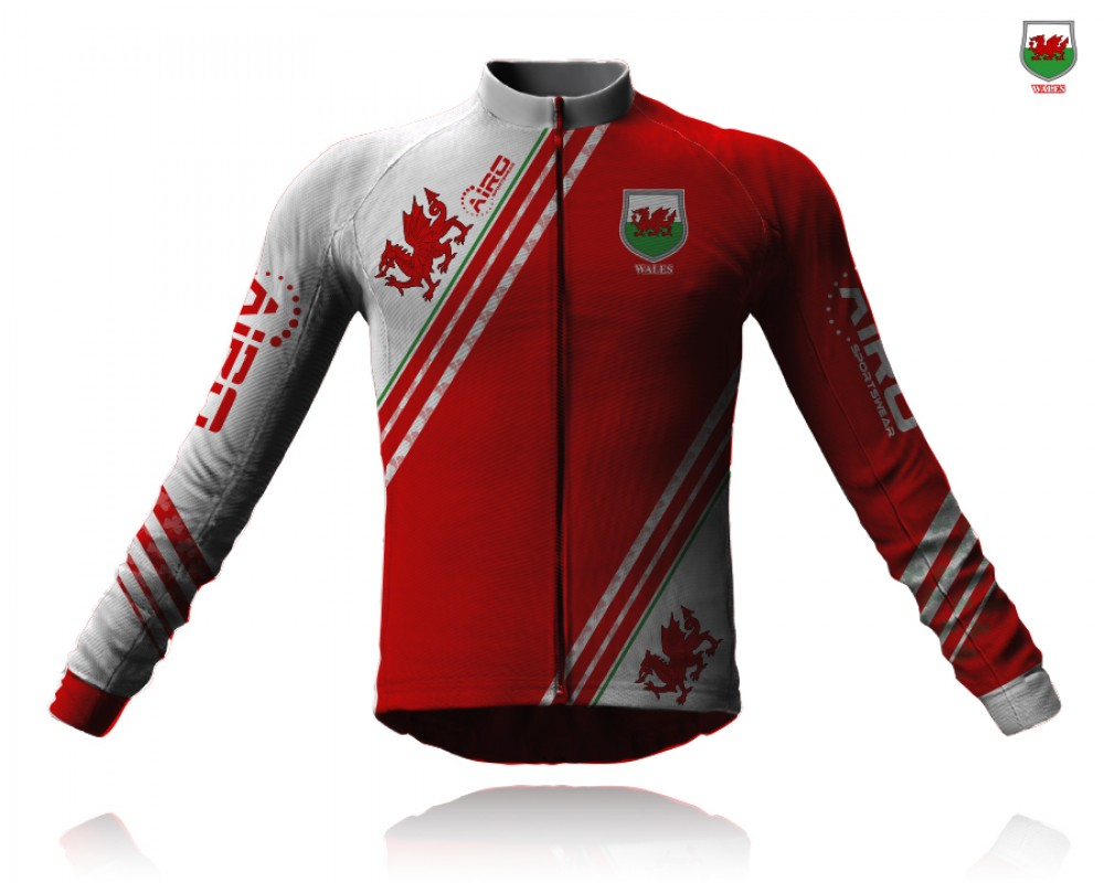 Image of Airosportswear Supporters Wales Cycling Jersey Long Sleeve