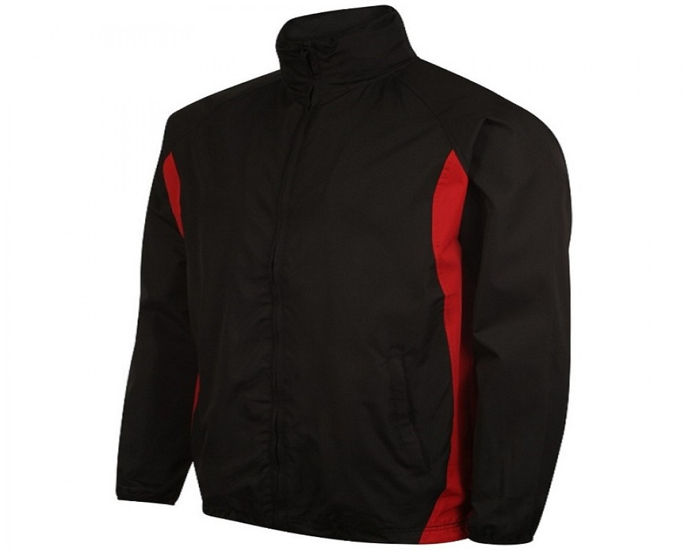 Image of Airosportswear Tracksuit Top/ Shower Jackets Black/Silver