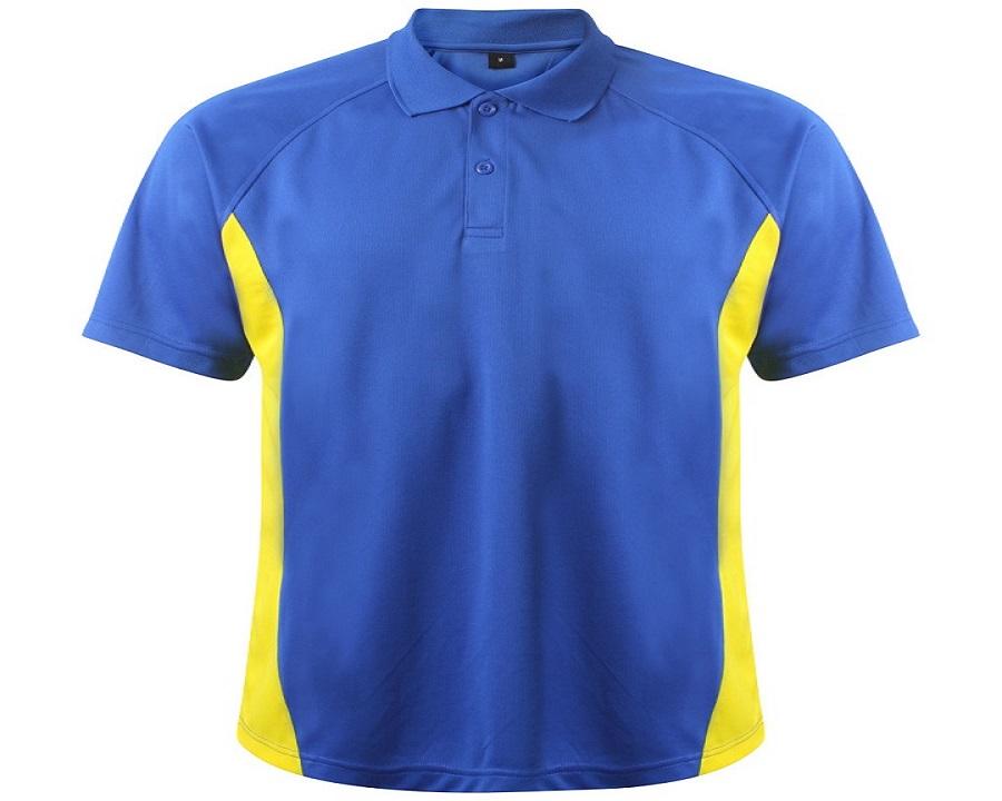 Image of Airosportswear Matchday Polo Royal Blue/Yellow