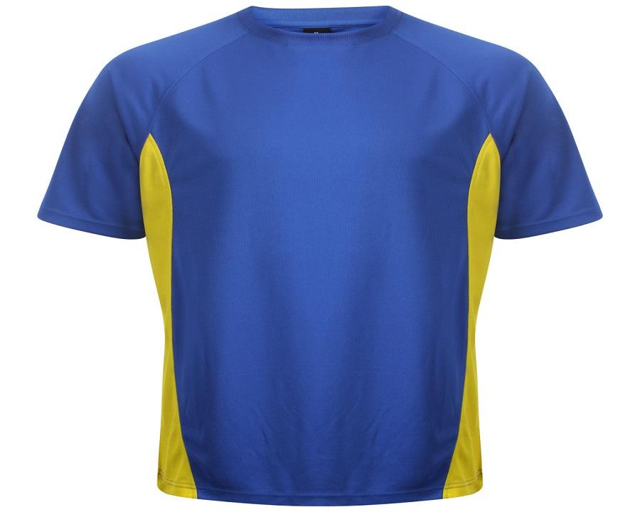 Image of Airosportswear Training T Shirts Royal Blue/Yellow
