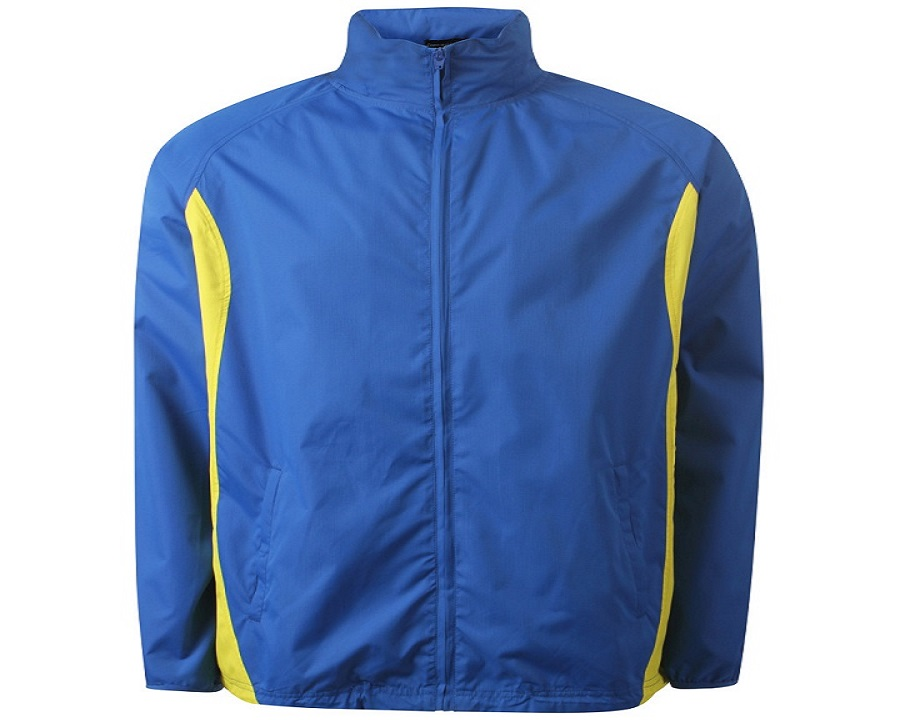 Image of Airosportswear Tracksuit Top/ Shower Jackets Royal Blue/Yellow
