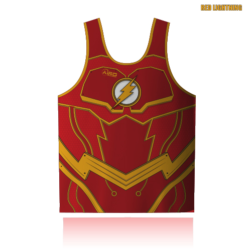 Image of Red Lightning Rugby Shirt