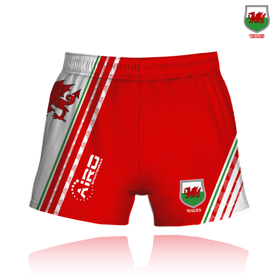 Image of Airosportswear Supporters Wales Shorts