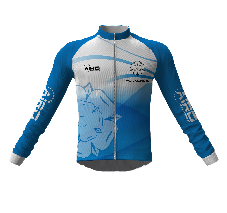 Image of Airosportswear Yorkshire Cycling Jersey Long Sleeve