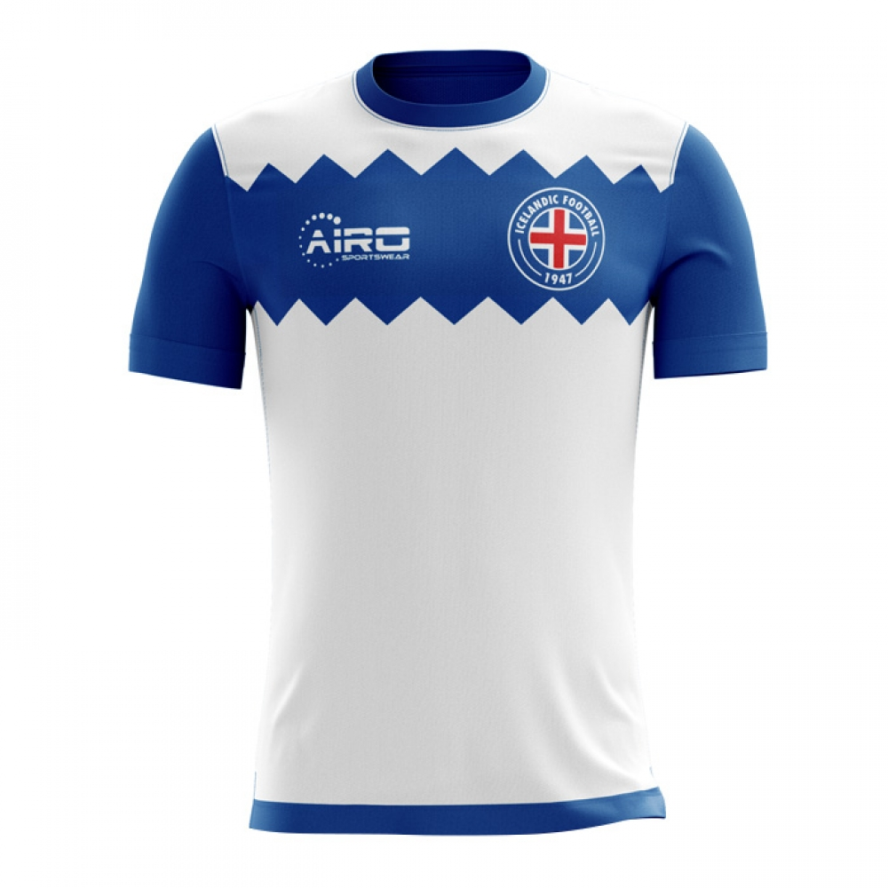 Image of 2017 2018 Iceland Away Concept Football Shirt (Kids)